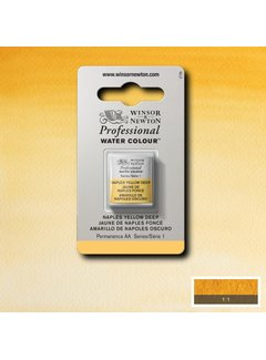Winsor & Newton W&N pro. aquarelverf halve nap Naples Yellow Deep S1