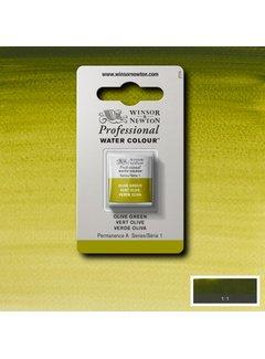 Winsor & Newton W&N pro. aquarelverf halve nap Olive Green S1
