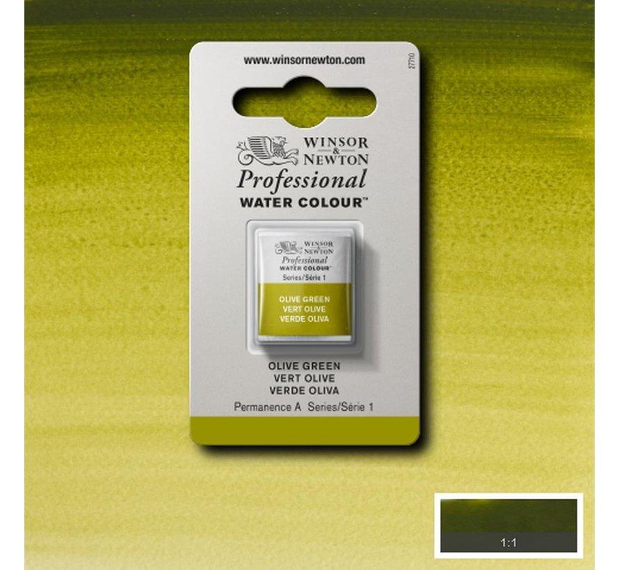 W&N pro. aquarelverf halve nap Olive Green S1
