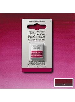 Winsor & Newton W&N pro. aquarelverf halve nap Permanent Magenta S3