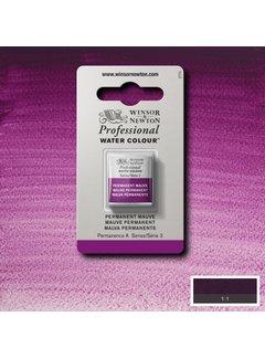 Winsor & Newton W&N pro. aquarelverf halve nap Permanent Mauve S3