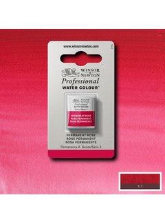 Winsor & Newton W&N pro. aquarelverf halve nap Permanent Rose S3