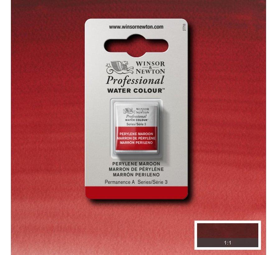W&N pro. aquarelverf halve nap Perylene Maroon S3