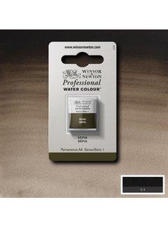 Winsor & Newton W&N pro. aquarelverf halve nap Sepia S1