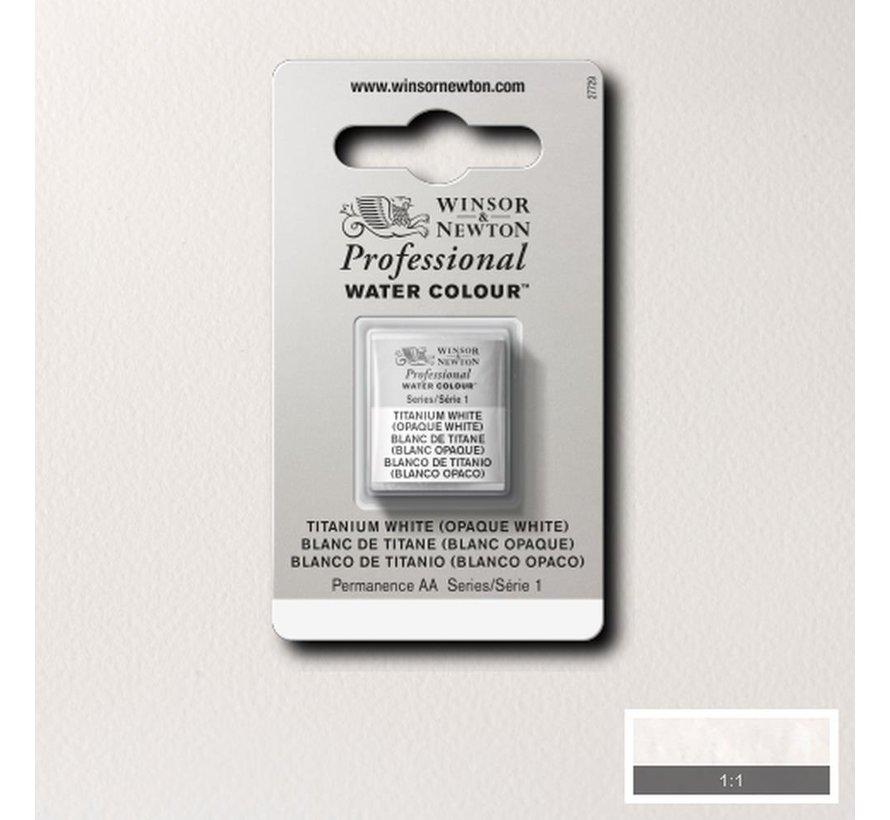 W&N pro. aquarelverf halve nap Titanium White S1