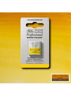 Winsor & Newton W&N pro. aquarelverf halve nap Transparent Yellow S1