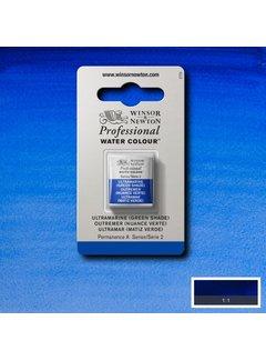 Winsor & Newton W&N pro. aquarelverf halve nap Ultramarine (Green Shade) S2