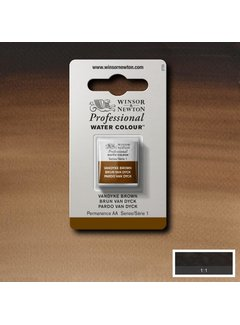 Winsor & Newton W&N pro. aquarelverf halve nap Vandyke Brown S1
