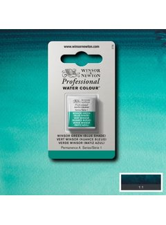 Winsor & Newton W&N pro. aquarelverf halve nap Winsor Green (Blue shade) S1