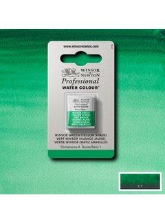 Winsor & Newton W&N pro. aquarelverf halve nap Winsor Green (Yellow shade) S1