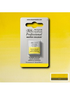 Winsor & Newton W&N pro. aquarelverf halve nap Winsor Yellow S1