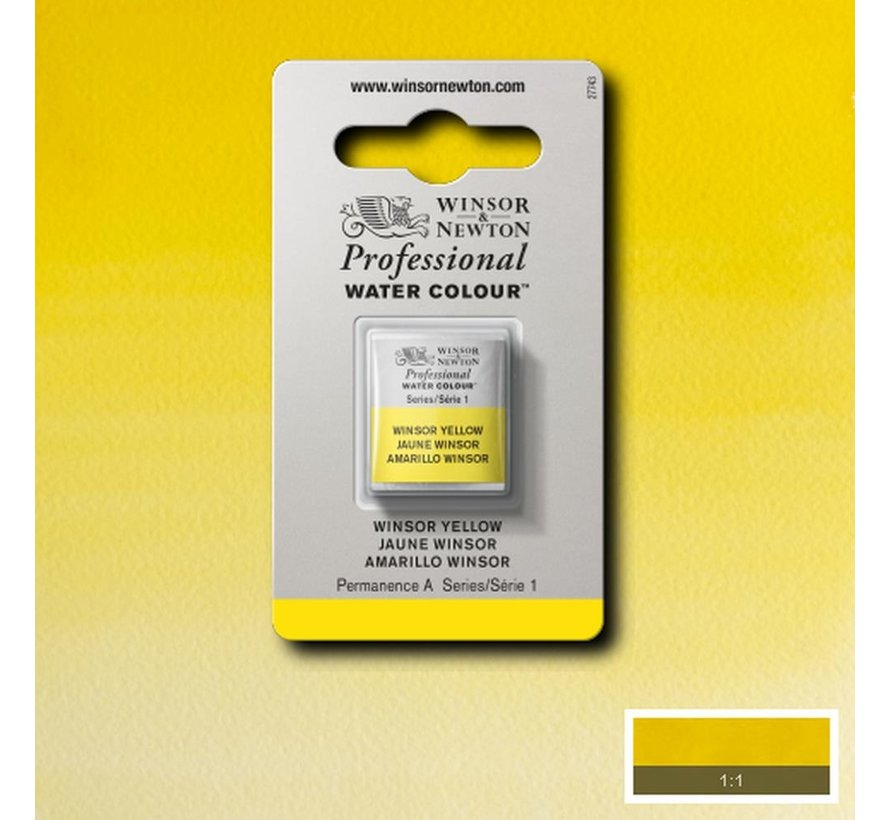 W&N pro. aquarelverf halve nap Winsor Yellow S1
