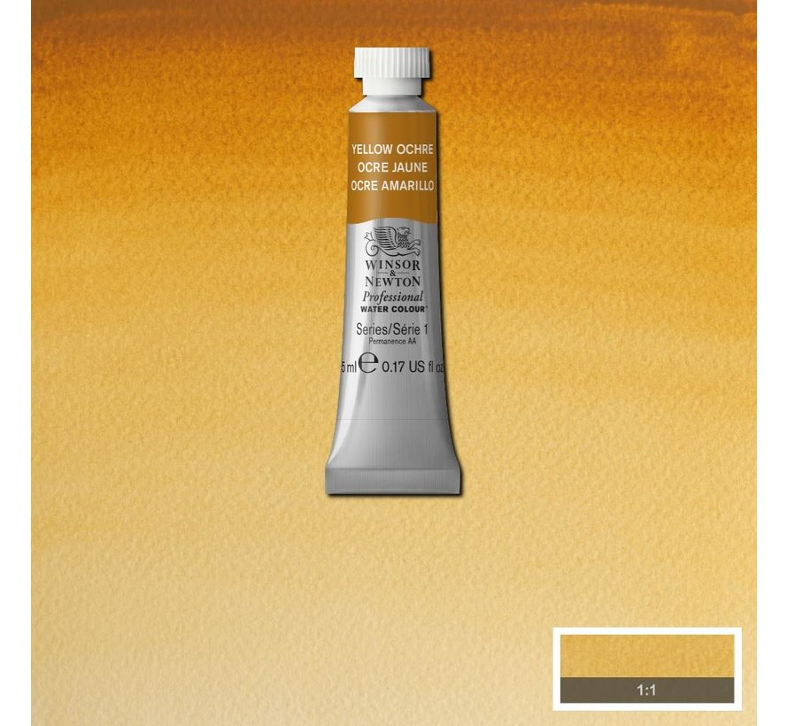 W&N pro. aquarelverf tube 5ml Yellow Ochre