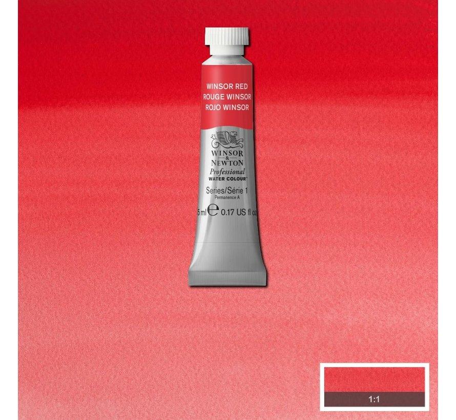 W&N pro. aquarelverf tube 5ml Winsor Red