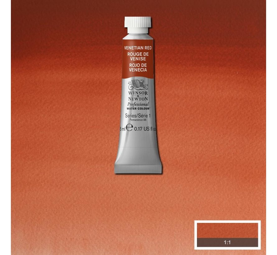 W&N pro. aquarelverf tube 5ml Venetian Red