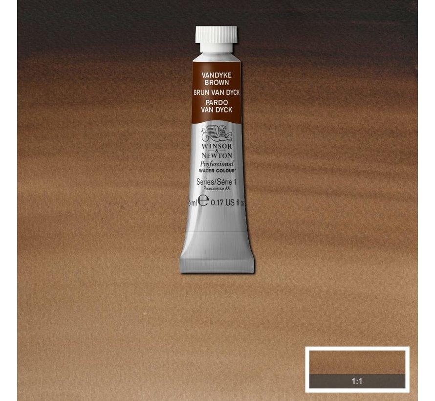 W&N pro. aquarelverf tube 5ml Vandyke Brown