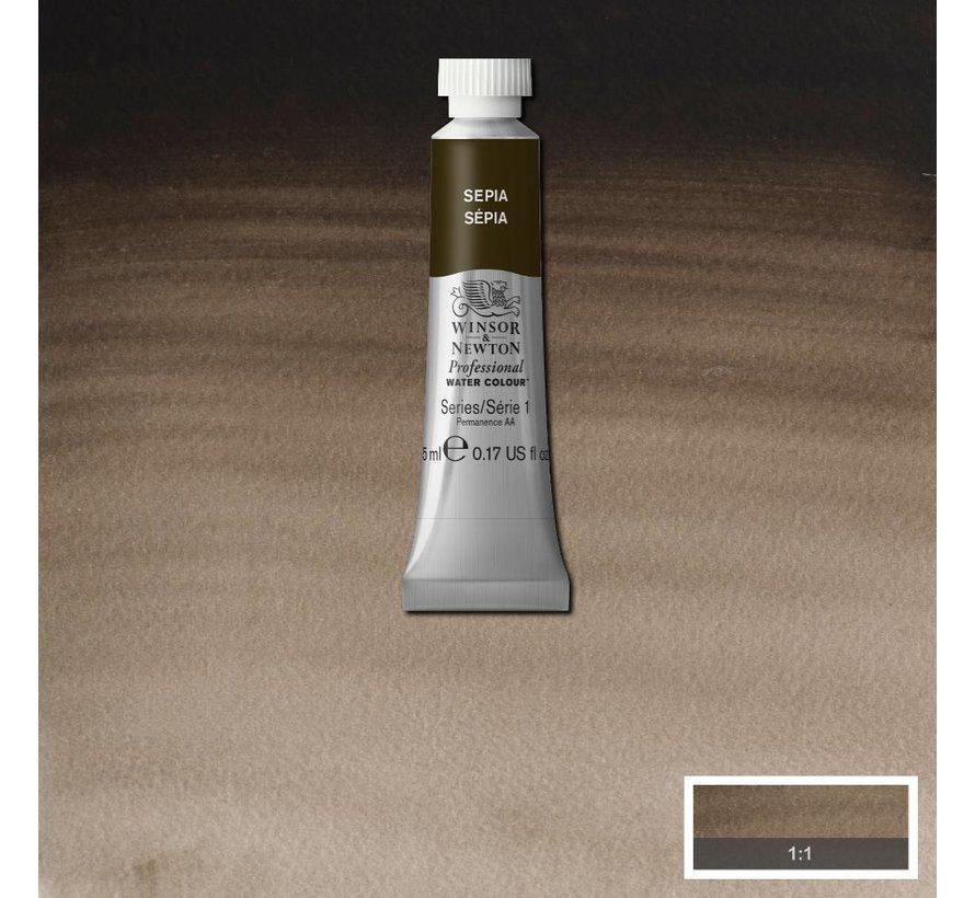 W&N pro. aquarelverf tube 5ml Sepia