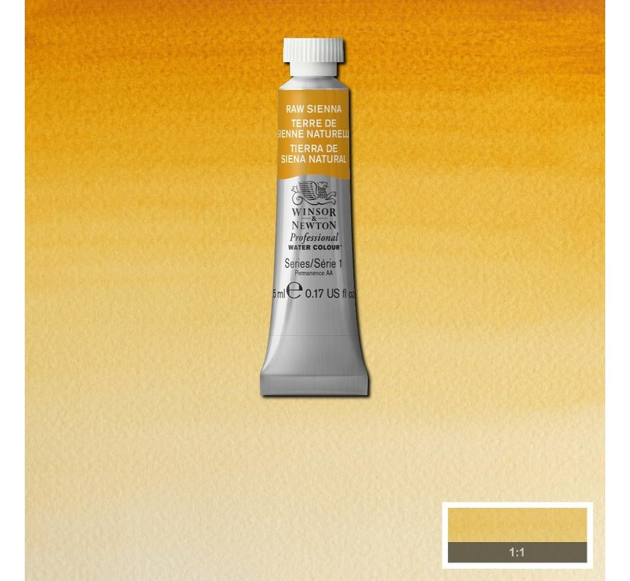 W&N pro. aquarelverf tube 5ml Raw Sienna