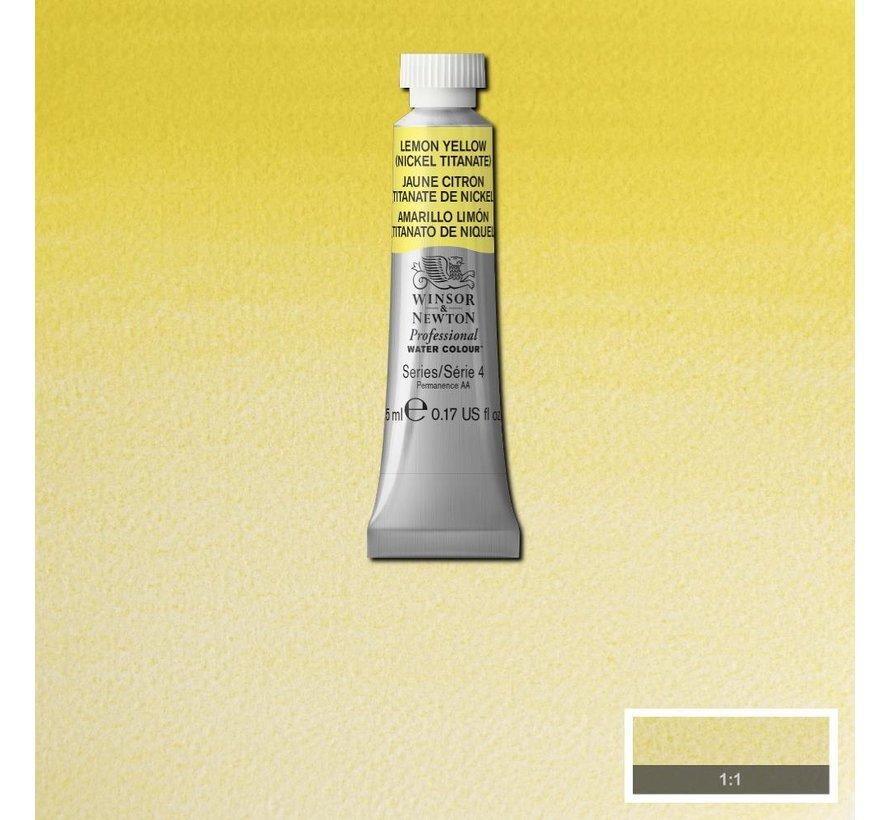 W&N pro. aquarelverf tube 5ml Lemon Yellow (Nickel Titanium)