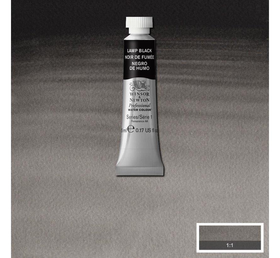 W&N pro. aquarelverf tube 5ml Lamp Black