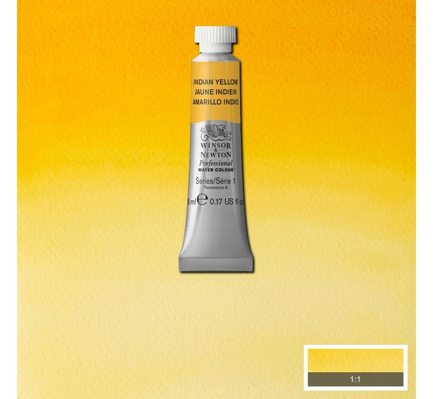 W&N pro. aquarelverf tube 5ml Indian Yellow