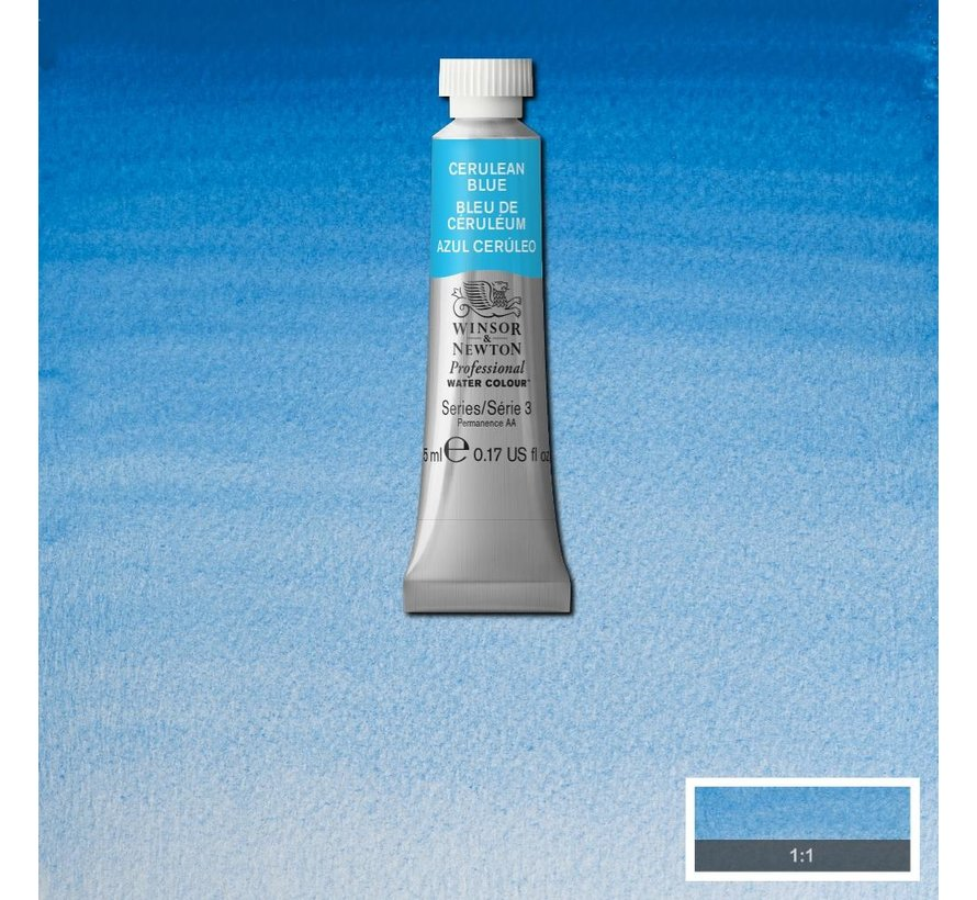 W&N pro. aquarelverf tube 5ml Cerulean Blue