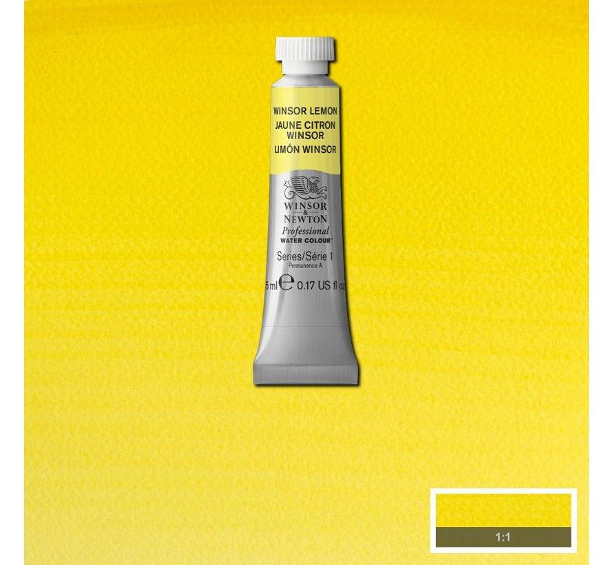 W&N pro. aquarelverf tube 5ml Winsor Lemon