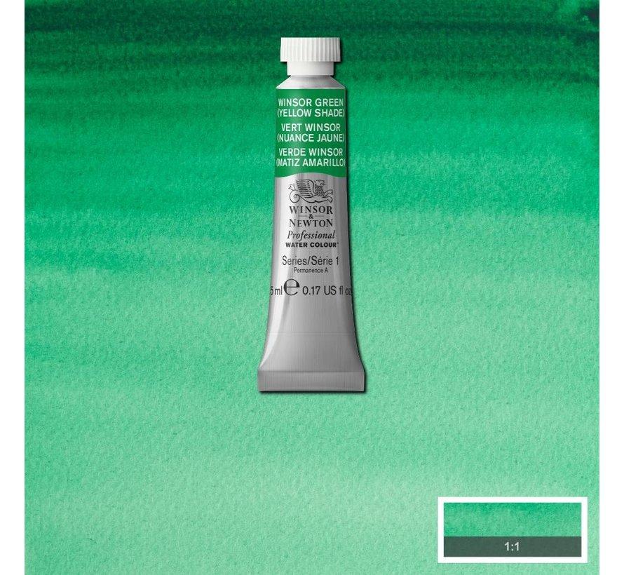 W&N pro. aquarelverf tube 5ml Winsor Green (Yellow shade)