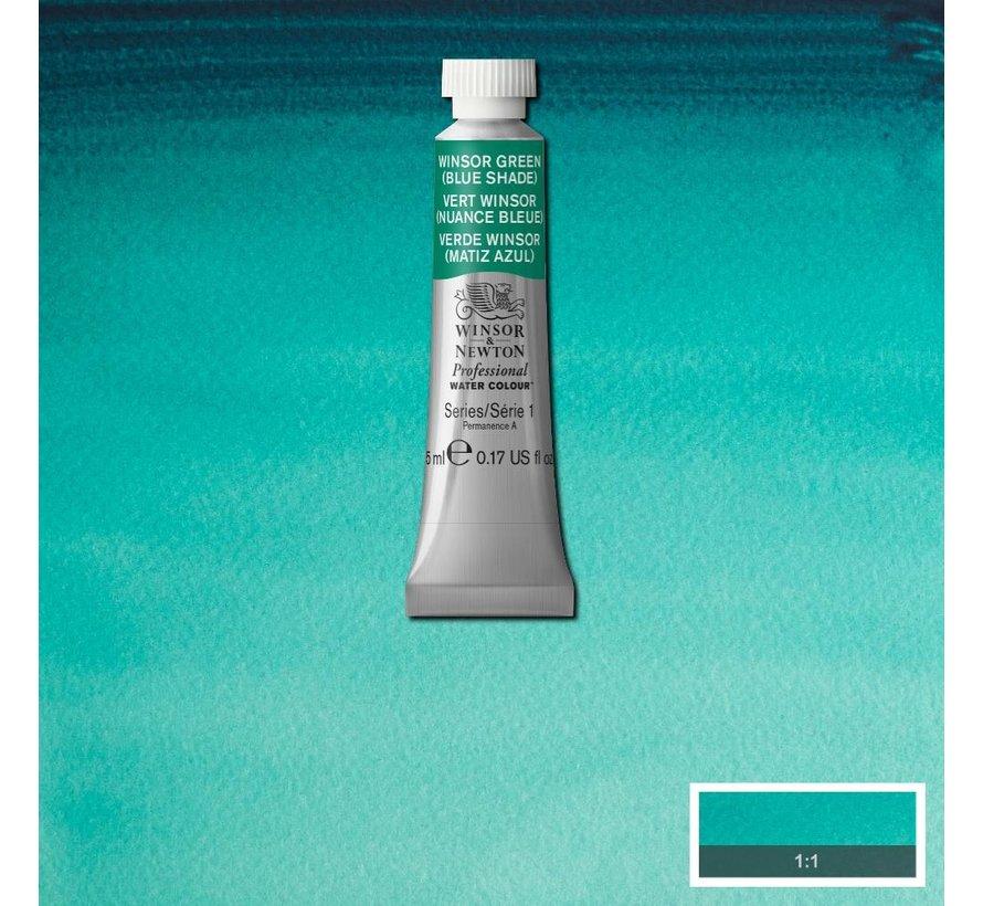 W&N pro. aquarelverf tube 5ml Winsor Green (Blue shade)