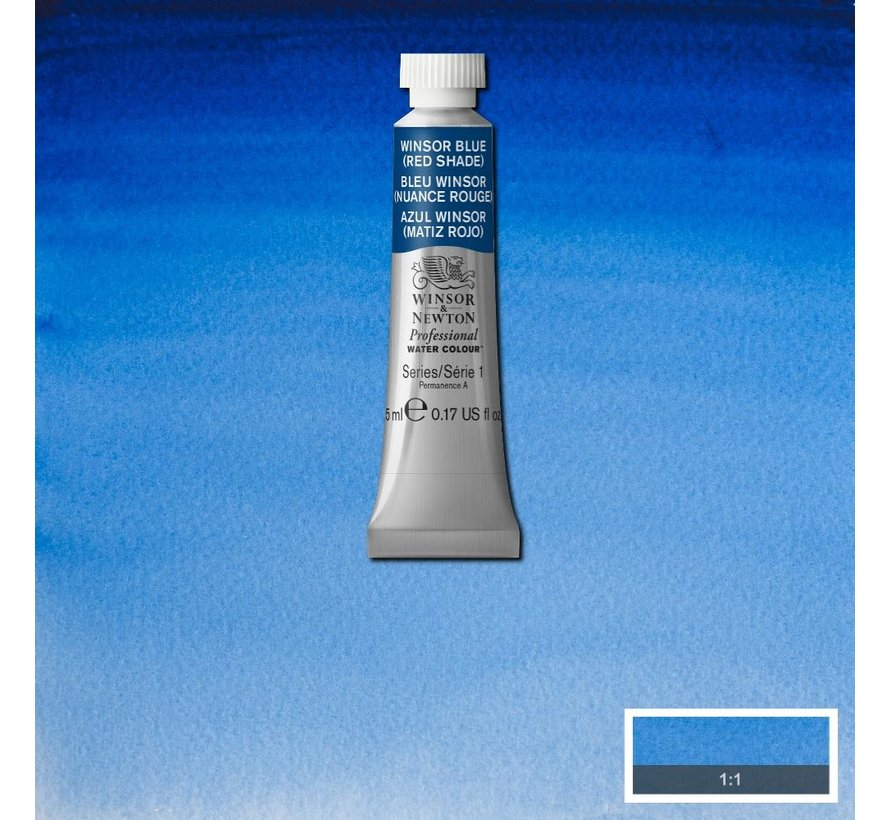 W&N pro. aquarelverf tube 5ml Winsor Blue (Red shade)