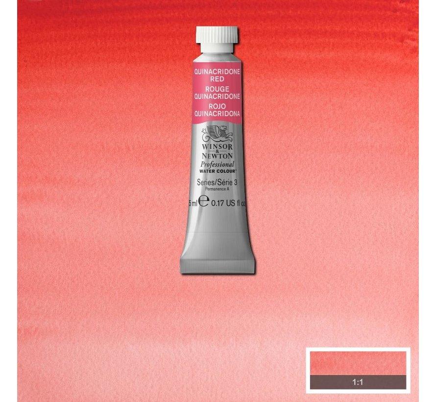 W&N pro. aquarelverf tube 5ml Quinacridone Red