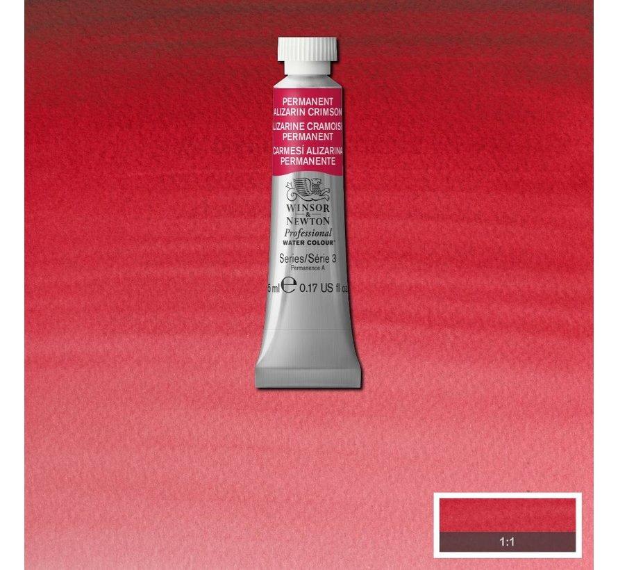 W&N pro. aquarelverf tube 5ml Permanent Alizarine Crimson