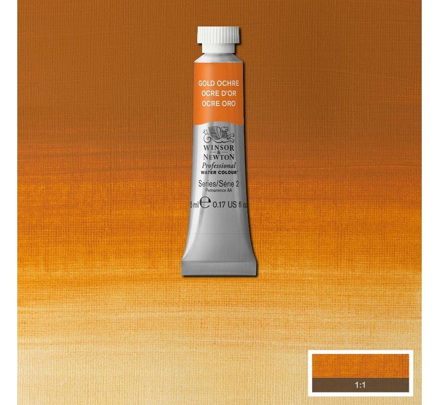 W&N pro. aquarelverf tube 5ml Gold Ochre