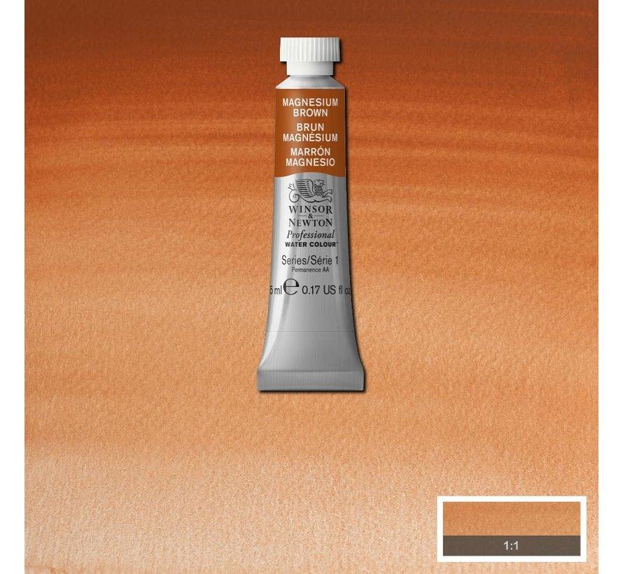 W&N pro. aquarelverf tube 5ml Magnesium Brown
