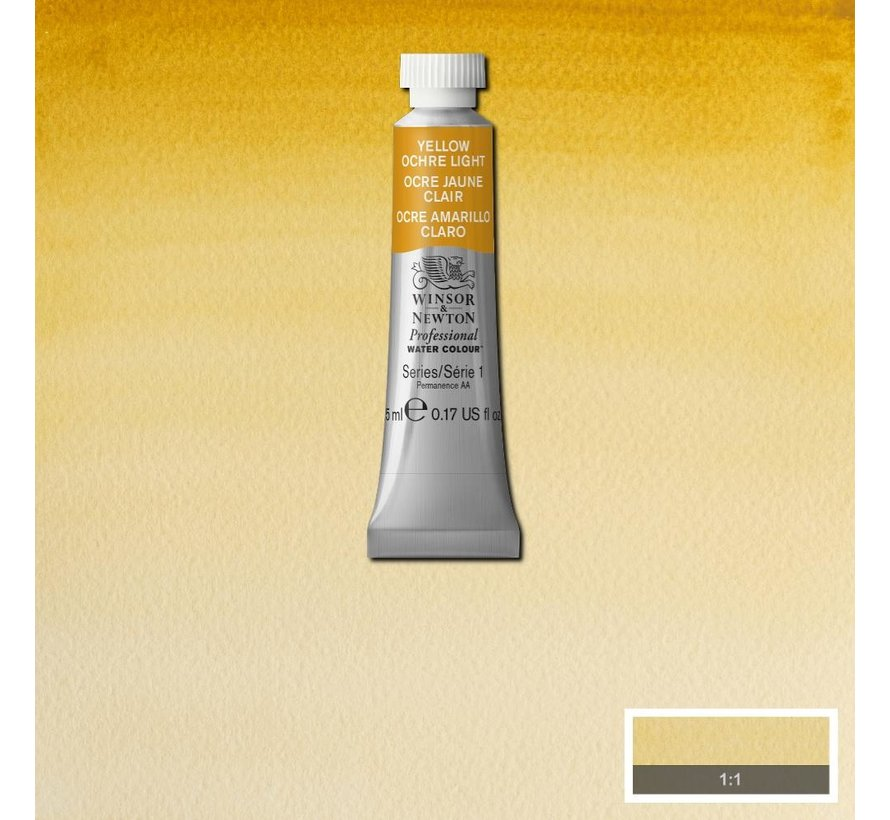 W&N pro. aquarelverf tube 5ml Yellow Ochre Light