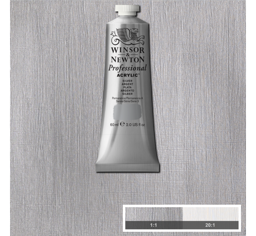 Professional acrylverf 60ml Silver