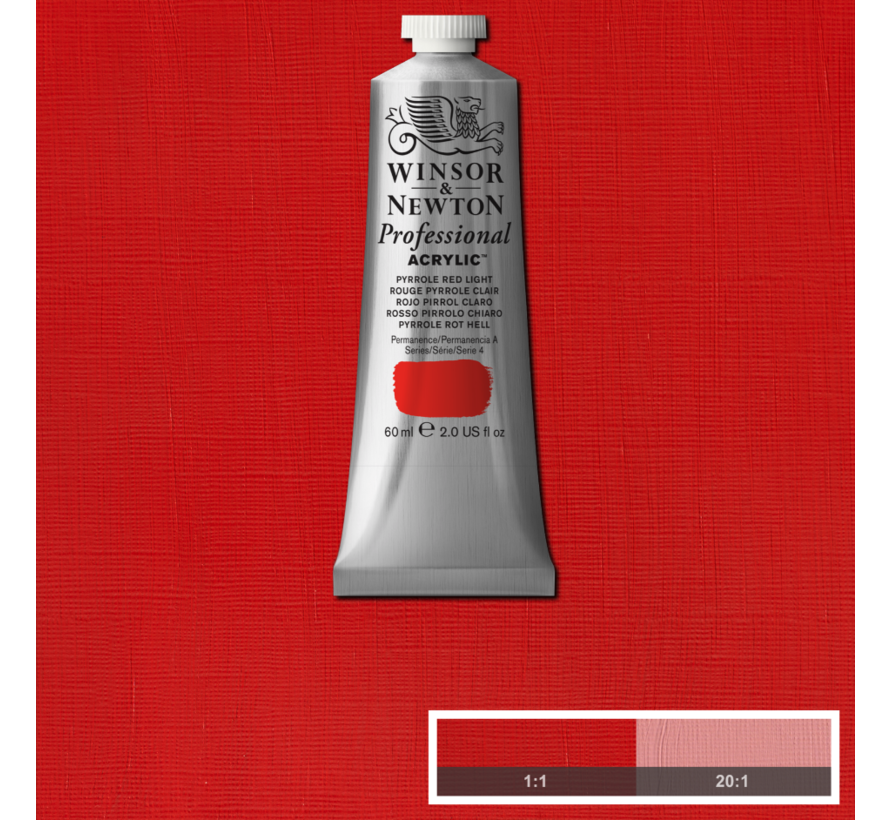 Professional acrylverf 60ml Pyrrole Red Deep Light