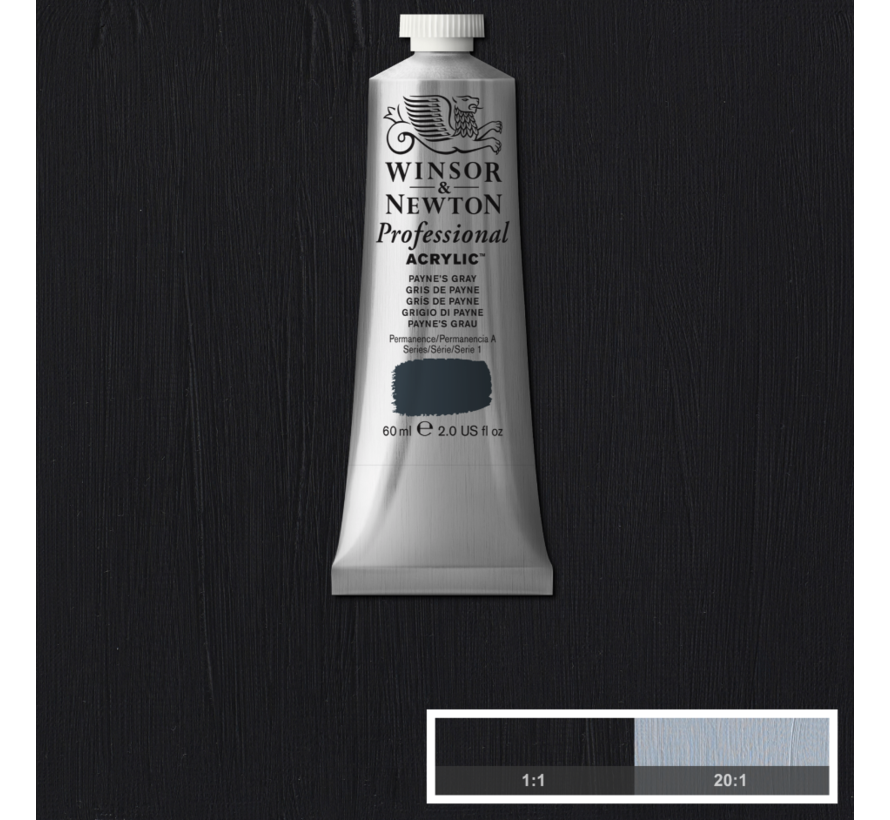 Professional acrylverf 60ml Payne's Gray