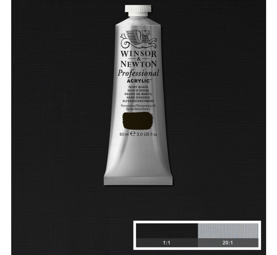 Professional acrylverf 60ml Ivory Black