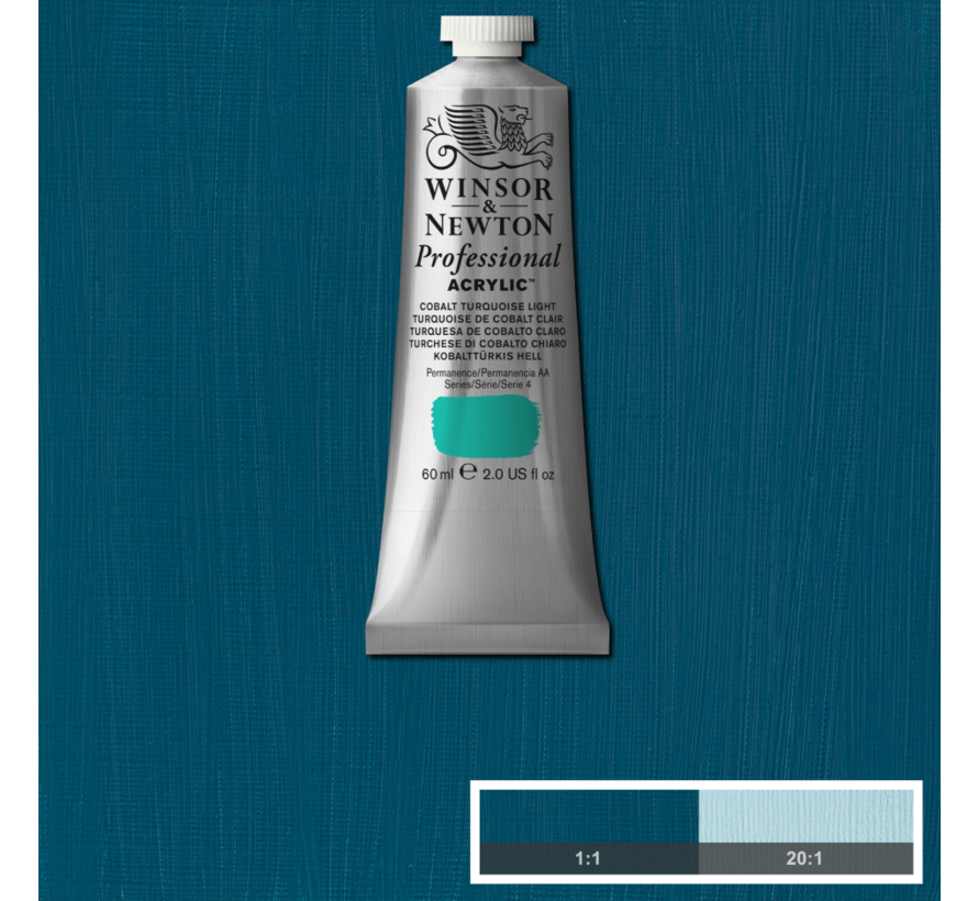 Professional acrylverf 60ml Cobalt Turquoise Light