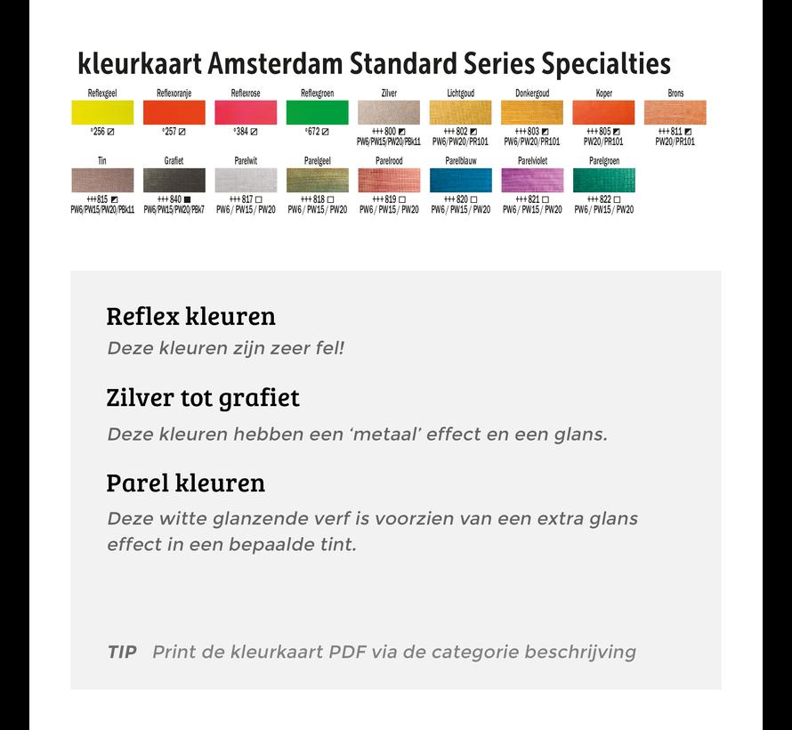 Amsterdam acrylverf 120ml standard 802 lichtgoud