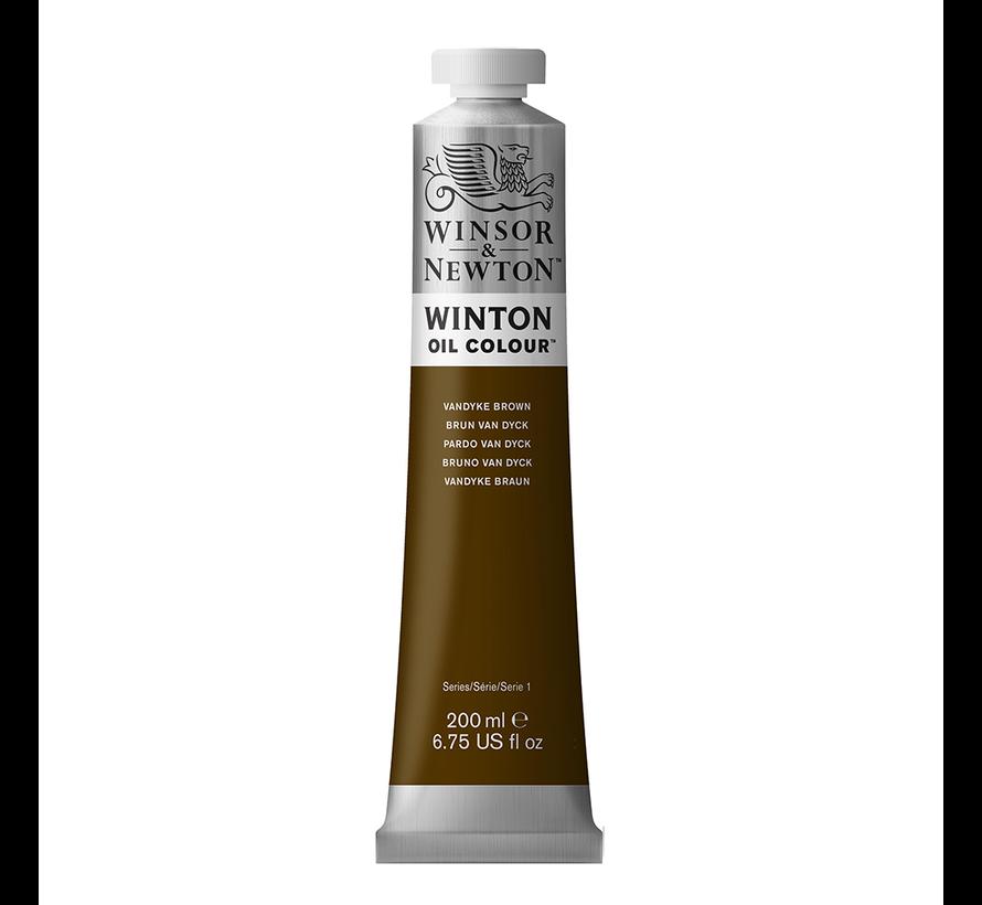 W&N Winton olieverf 200ml Vandyke Brown 676