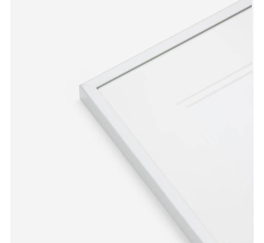 Aluminium wissellijst satijn wit