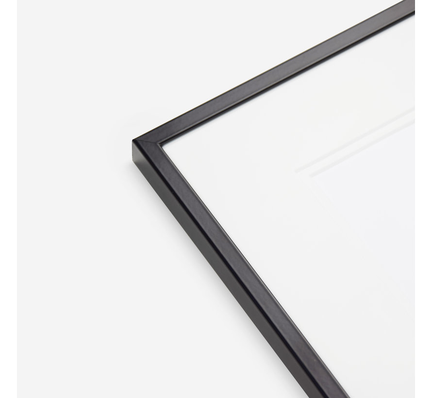 Aluminium wissellijst satijn zwart