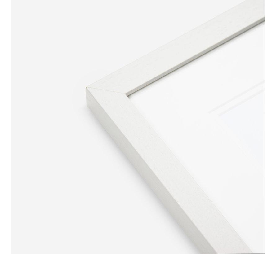 Hardhout wissellijst satijn wit