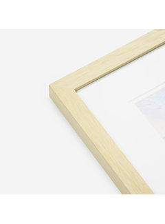 Schoot Hardhout wissellijst blank