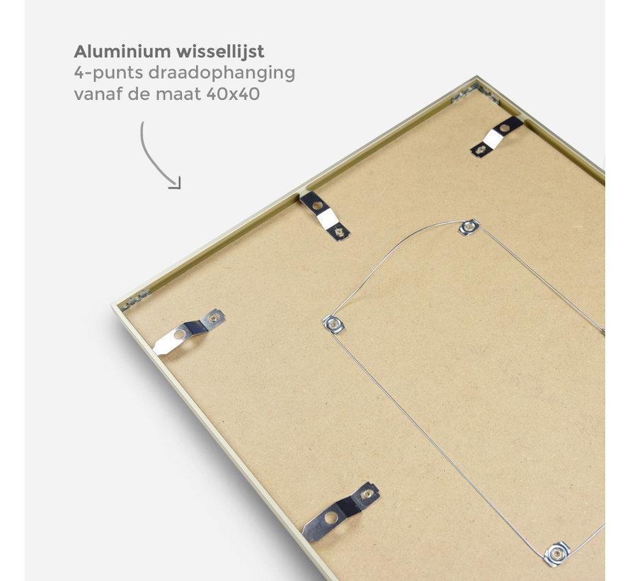 Aluminium wissellijst mat zilver