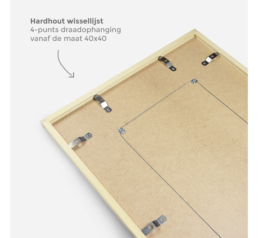 Hardhout wissellijst ambacht rood