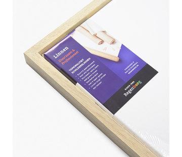 Regenboog huismerk Blok baklijst blank met linnen schildersdoek combideal