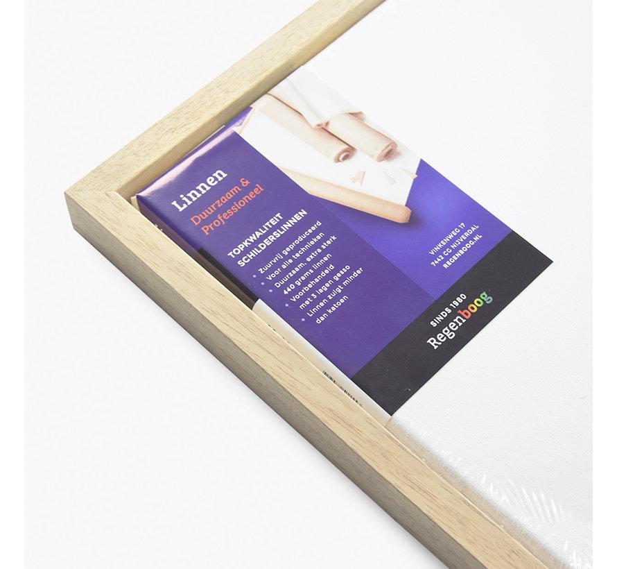 Blok baklijst blank + linnen schildersdoek 21mm combideal